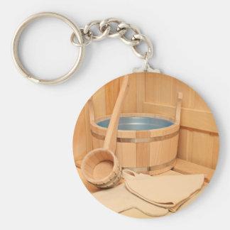Miscellaneous - Sauna Objects Patterns Six Keychain