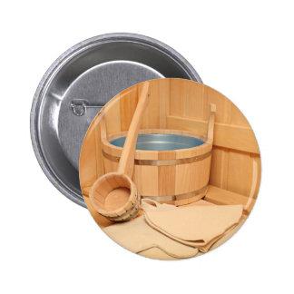 Miscellaneous - Sauna Objects Patterns Six Pinback Button