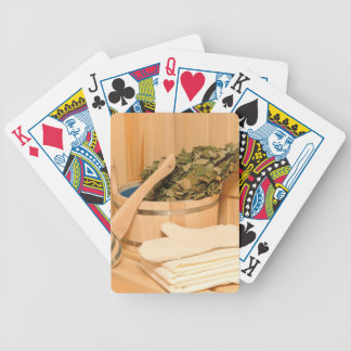 Miscellaneous - Sauna Objects Patterns Twenty-One Bicycle Playing Cards