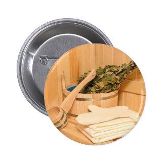 Miscellaneous - Sauna Objects Patterns Twenty-One Pinback Button