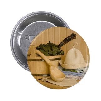 Miscellaneous - Sauna Objects Patterns Twenty Pinback Button