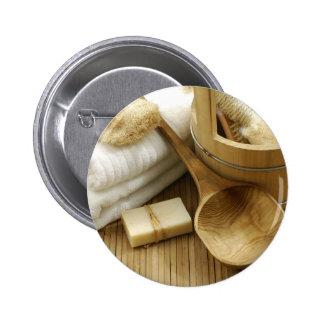 Miscellaneous - Sauna Objects Patterns Twenty-Six Pinback Button