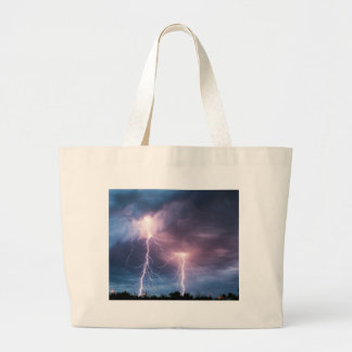 Miscellaneous - Storm & Thunder Five Large Tote Bag