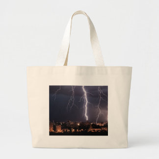 Miscellaneous - Storm & Thunder Six Large Tote Bag