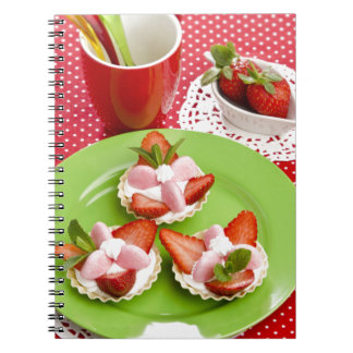 Miscellaneous - Strawberry With Cream Fourteen Spiral Notebook
