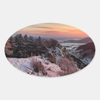 Miscellaneous - Sunny Mountain Nineteen Oval Sticker