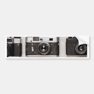 Miscellaneous - Vintage Camera Patterns Six Bumper Sticker