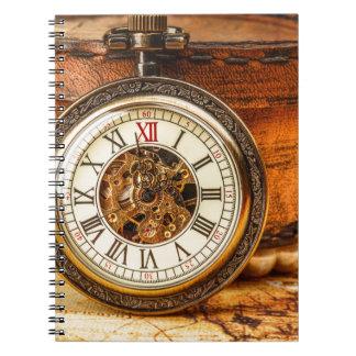 Miscellaneous - Vintage Watch Patterns Fourteen Spiral Notebook