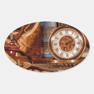 Miscellaneous - Vintage Watch Patterns Nineteen Oval Sticker