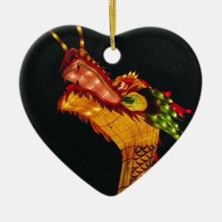 Miscellaneous - Yellow Dragon Design Ceramic Ornament