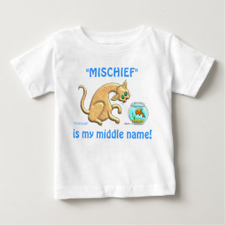 Mischief Is My Middle Name Baby T-Shirt