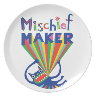 Mischief Maker - melamine plate