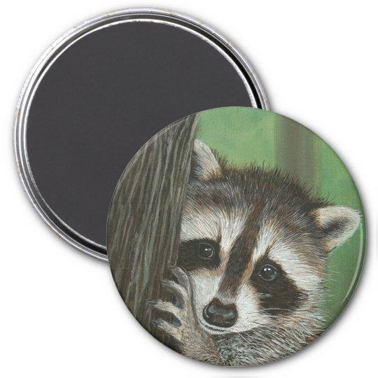 Mischief Raccoon up a Tree magnet
