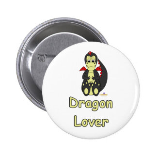 Mischievous Baby Black Dragon Red Wings Dragon Lov Pin