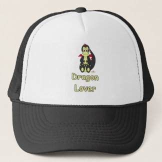 Mischievous Baby Black Dragon Red Wings Dragon Lov Trucker Hat