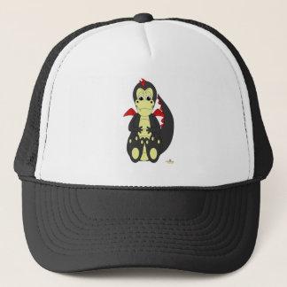 Mischievous Baby Black Dragon Red Wings Trucker Hat