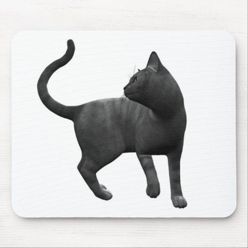 Mischievous Black Cat Mouse Pad