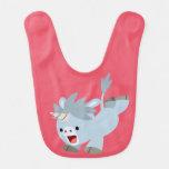 Mischievous Cartoon Baby Unicorn Baby Bib