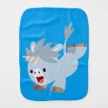 Mischievous Cartoon Baby Unicorn Burp Cloth