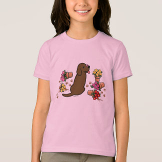 Mischievous Chocolate Labrador T-Shirt