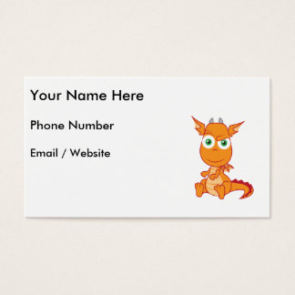Mischievous Dragon Smirking Business Card