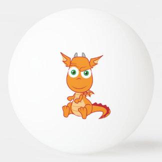 Mischievous Dragon Smirking Ping Pong Ball