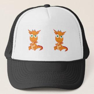 Mischievous Dragon Smirking Trucker Hat