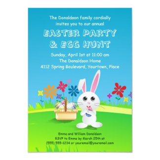 Mischievous Easter Bunny Party Personalized Invitations