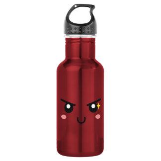 Mischievous face with evil sparkle 18oz water bottle