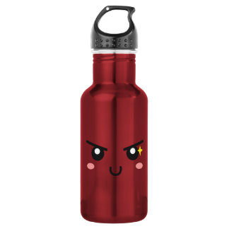 Mischievous face with evil sparkle stainless steel water bottle