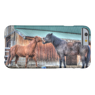 Mischievous Horses Playing for Horse-lovers Barely There iPhone 6 Case