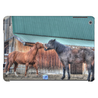 Mischievous Horses Playing, for Horse-lovers iPad Air Cover