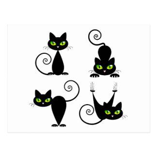 Mischievous kitties postcard