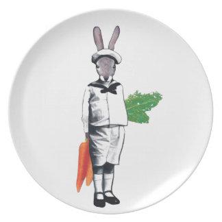 Mischievous Rabbit Plates