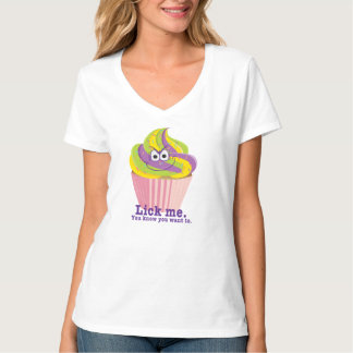 Mischievous Sly Innuendo Cupcake Lick Me T-Shirt