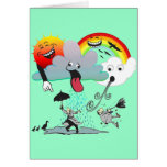 Mischievous Weather Greeting Card