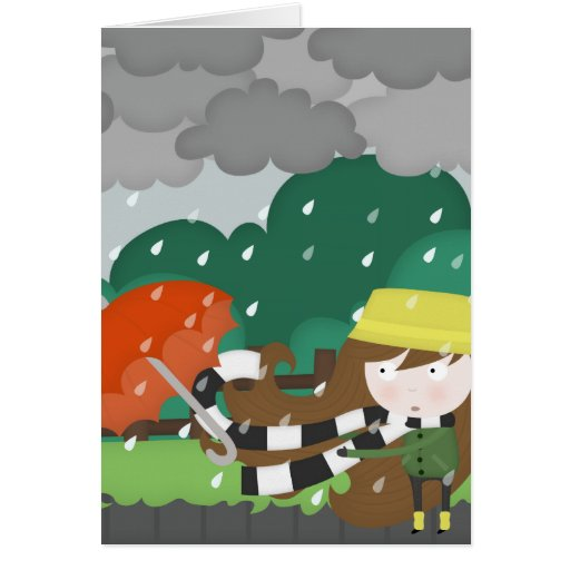 Mischievous wind greeting cards