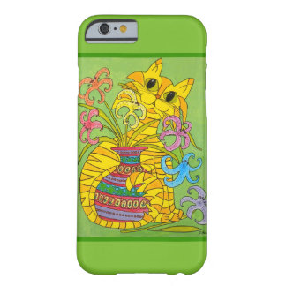 Mischievous Yellow Cat with Vase of Lilies Barely There iPhone 6 Case