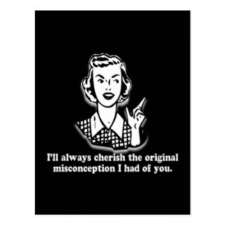 Misconception - Sarcastic Humor Postcard