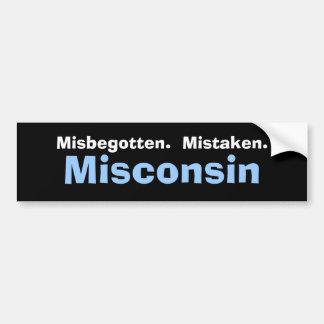 Misconsin Bumper Sticker Car Bumper Sticker