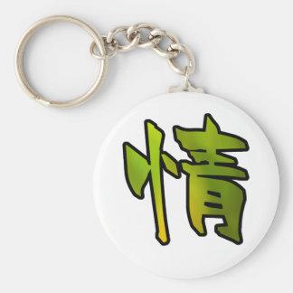 misericordia del arte del kanji llavero redondo tipo pin