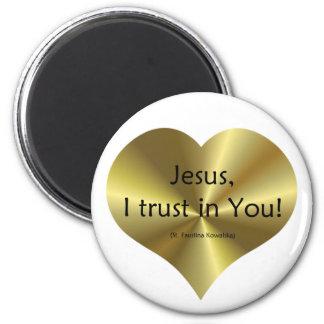 Misericordia divina: Confianza de Jesús I en usted Imán Redondo 5 Cm