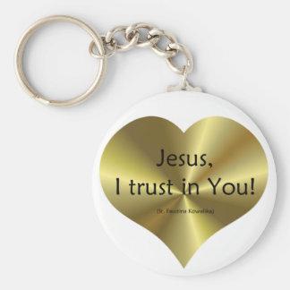 Misericordia divina: Confianza de Jesús I en usted Llavero Redondo Tipo Pin