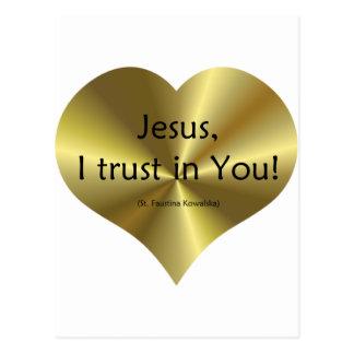 Misericordia divina: Confianza de Jesús I en usted Tarjeta Postal