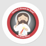 Misericordia divina de Jesús Pegatina Redonda