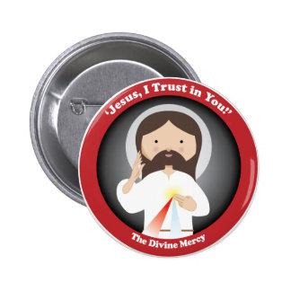 Misericordia divina de Jesús Pin Redondo De 2 Pulgadas
