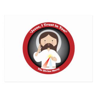 Misericordia divina de Jesús Postal