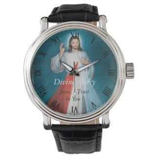 ¡Misericordia divina Jesús, confío en en usted! Relojes De Mano
