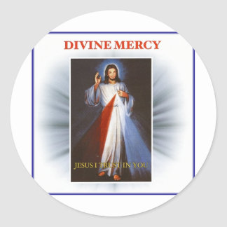 Misericordia divina pegatina redonda