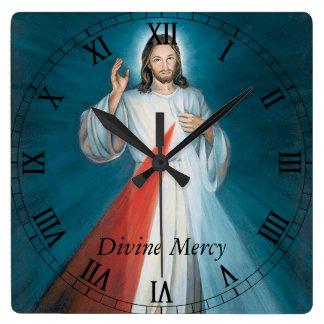 Misericordia divina reloj cuadrado
